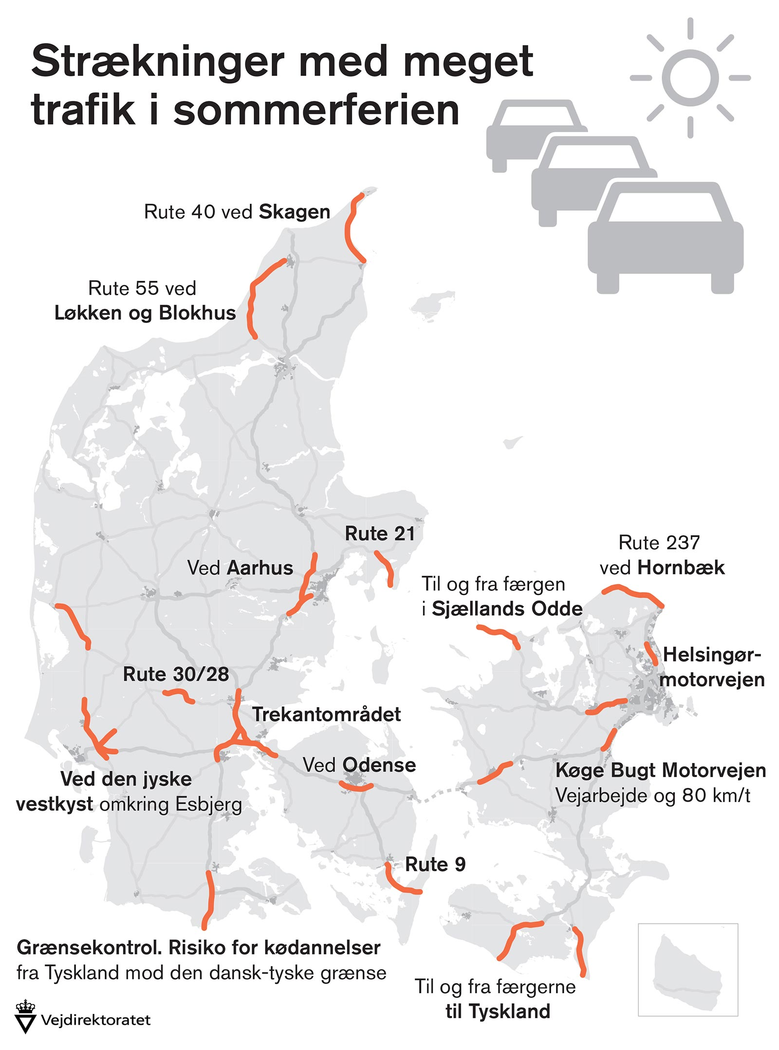 Undga Bilkoer I Ferietrafikken Regionalt Jydskevestkysten